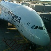Photo taken at Lufthansa Senator Lounge C by Nathan B. on 8/12/2012