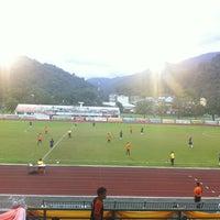Photo taken at Ranong Province Stadium by Koy C. on 7/31/2012