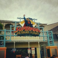 Photo taken at Superman: Ultimate Flight by Alecsandria L. on 9/1/2012
