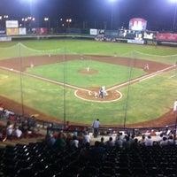 Photo taken at Estadio Nelson Barrera Romellón by Gib M. on 5/8/2012