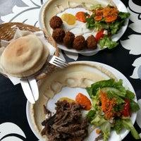Photo taken at Dada Falafel by Lisa D. on 8/6/2012
