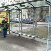 Photo taken at Остановка «Хамовнический Вал» by Ekaterina G. on 4/18/2012