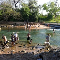 Photo taken at Barton Springs Spillway by Jill P. on 4/1/2012