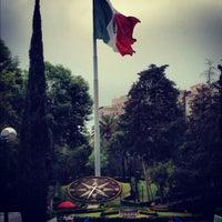 Photo taken at Parque Luis G. Urbina (Parque Hundido) by Mario G. on 3/28/2012