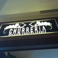 Photo taken at Churreria Spanish Chocolateria by Natasha M. on 5/13/2012