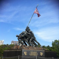 Photo taken at US Marine Corps War Memorial (Iwo Jima) by Catherine C. on 4/16/2012