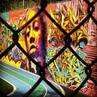 Photo taken at Graffiti Hall Of Fame by Emily V. on 7/21/2012