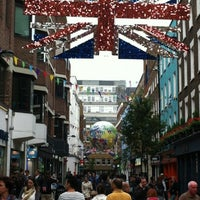 Photo taken at Carnaby Street by Kubilay P. on 8/7/2012