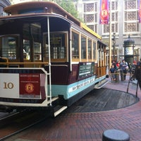 Photo taken at Powell Street Cable Car Turnaround by Magoral R. on 4/5/2012