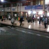 Photo taken at Stasiun Jatinegara by CuLe P. on 7/14/2012