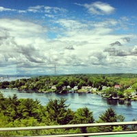 Photo taken at New Hampshire / Maine State Line by Alden F. on 5/23/2012