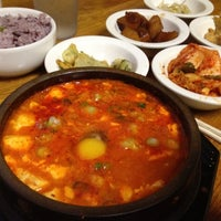 Photo taken at Myung-dong Soft Tofu House Korean Restaurant by Gilberto on 5/21/2012