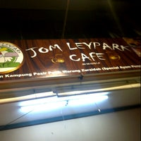 Photo taken at Jom Leypark Cafe by Syahrul R. on 8/13/2012