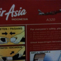 Photo taken at QZ7668 / Indonesia AirAsia by Arnold L. on 8/25/2012
