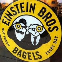 Photo taken at Einstein Bros Bagels by Dan K. on 8/9/2012