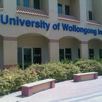 Photo taken at University of Wollongong in Dubai (UOWD) by Atif S. on 5/12/2012