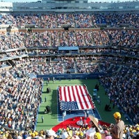 Photo taken at Arthur Ashe Stadium - USTA Billie Jean King National Tennis Center by Nameet P. on 9/11/2012