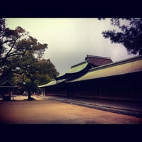 Photo taken at Hakozakigu Shrine by Teppei K. on 7/6/2012