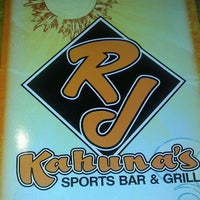 Photo taken at R.J. Kahuna's Sports Bar by Andrew N. on 2/13/2012