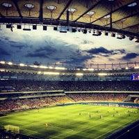 Photo taken at Olimpiyskiy Stadium by Anton N. on 7/31/2012