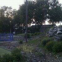 Photo taken at Bar Laitier & Mini-Golf L'Etang by Sandra B. on 8/3/2012
