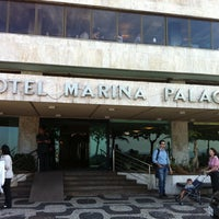 Photo taken at Marina Palace Rio Leblon by Sebastian C. on 4/5/2012