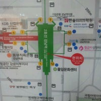 Photo taken at Gangnam Stn. by Simon Y. on 3/29/2012
