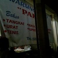 Photo taken at Warung Bakso Pak Jo by Nur Santi H. on 8/21/2012
