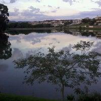 Photo taken at Lago do Orfeu by Fábio N. on 4/5/2012