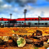 Photo taken at Hayward Park Caltrain Station by Eric W. on 4/11/2012