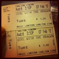 Photo taken at Magic Lantern: Carlton Cinema by Bella T. on 2/8/2012