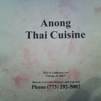 Photo taken at Anong Thai by Amanda W. on 4/22/2012