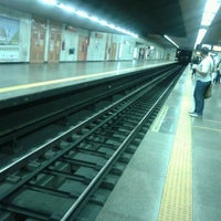 Photo taken at MetrôRio - Estação Carioca by Raphael F. on 8/16/2012