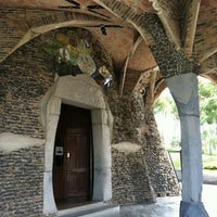 Photo taken at Cripta Gaudí by かず on 4/23/2012