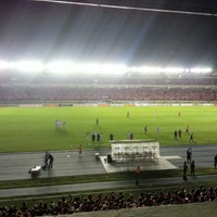 Photo taken at Estadio Rommel Fernández by Itzel I. on 9/12/2012