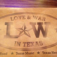 Photo taken at Love & War in Texas by Patia S. on 4/1/2012
