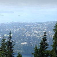 Photo taken at Top of Grouse Grind by Tina T. on 8/24/2012