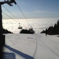 Photo taken at Mont-Sainte-Anne by Guy L. on 3/17/2012