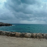 Photo taken at Playa Xcaret by Julieth Steph A. on 8/30/2012