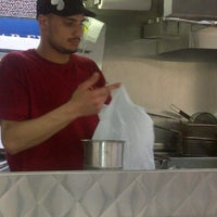 Photo taken at Halal Food Stand (across from Pizza Wagon) by Luke C. on 5/16/2012
