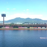 Photo taken at Boat Race Wakamatsu by mami c. on 8/4/2012