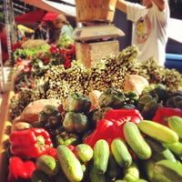 Photo taken at Fulton Street Farmer's Market by Chad D. on 6/23/2012