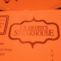 Photo taken at EB Green's Steakhouse by Decoda D. on 3/11/2012