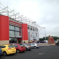 Photo taken at Riverside Stadium by Laura S. on 8/25/2012