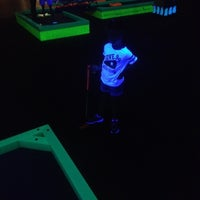 Photo taken at Glowgolf Mini Golf - Holyoke Mall by Tabitha B. on 9/4/2012