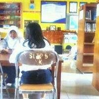 Photo taken at Perpustakaan SMPN 5 Yogyakarta by Keenan M. on 4/17/2012