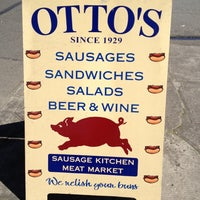 Photo taken at Otto's Sausage Kitchen by Leah S. on 4/21/2012