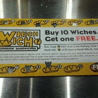 Photo taken at Which Wich? Superior Sandwiches by Audwin M. on 4/23/2012