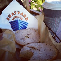 Photo taken at Boatyard Bagel Co. by Joshua on 8/1/2012