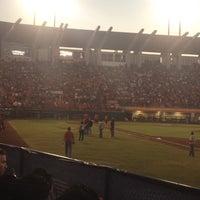 Photo taken at Estadio Nelson Barrera Romellón by Luis N. on 3/18/2012